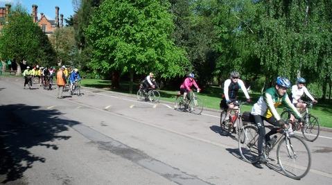 Start of Saturday's ride